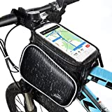 HiHiLL Bicycle Phone Bag, sac de tube de bicyclette, support de téléphone de vélo including iPhone 8, X, 7, 6, 5 & Plus models, Samsung Galaxy and Galaxy Note Series, Google Pixel, Any Smartphone