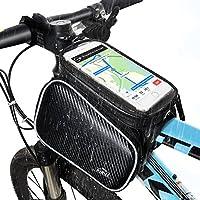 Bolsa de Bicicleta, Hihill Bolsa Manillar Bicicleta, Impermeable y Portátil Bolsa Móvil Para Tubo Superior de Cuadro de Bicicleta Adecuado con iphone X/ 8/ ...