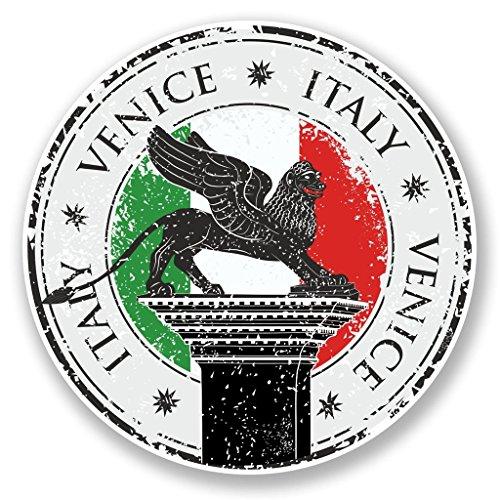 Preisvergleich Produktbild 2x Venedig Italien Vinyl Aufkleber Aufkleber Laptop Reise Gepäck Auto Ipad Schild Fun # 6642 - 10cm/100mm Wide
