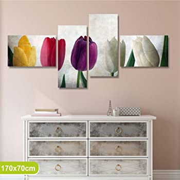 Blossom v2 mf 5 quadri moderni su tela pronti da appendere montata su pannelli in legno - Quadri da appendere in bagno ...