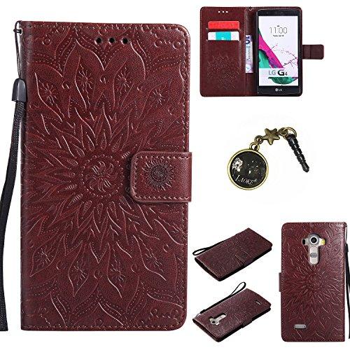 Preisvergleich Produktbild für LG G4 Hülle,Hochwertige Kunst-Leder-Hülle mit Magnetverschluss Flip Cover Tasche Leder [Kartenfächer] Schutzhülle Lederbrieftasche Executive Design +Staubstecker (1FF)