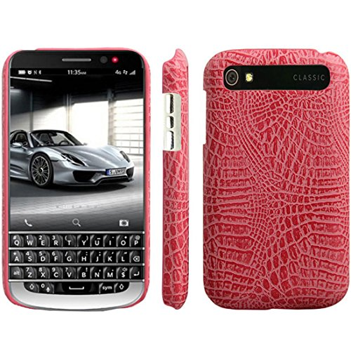 HualuBro BlackBerry Classic Hülle, [Ultra Slim] Premium Leichtes PU Leder Leather Handy Tasche Schutzhülle Case Cover für BlackBerry Classic Q20 Smartphone (Rose)