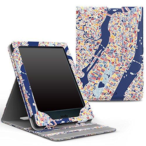 MoKo Étui de protection pour Kindle E-reader (8ème génération - modèle 2016) - étui de Retournement Vertical avec Auto Réveil / Veille pour Amazon Toute nouvelle Liseuse Kindle, Noir Z-New York City