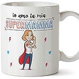 Mugffins Madre - Tazza Super Mamma Migliori del Mondo- Idee Regali Originali Festa della Mamma