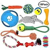 MAIKEHIGH 10 Pack Welpen Kauen Hund Seil Kinderkrankheiten Spielzeug Sortiment Geschenk Set für Small Medium Large Doggie
