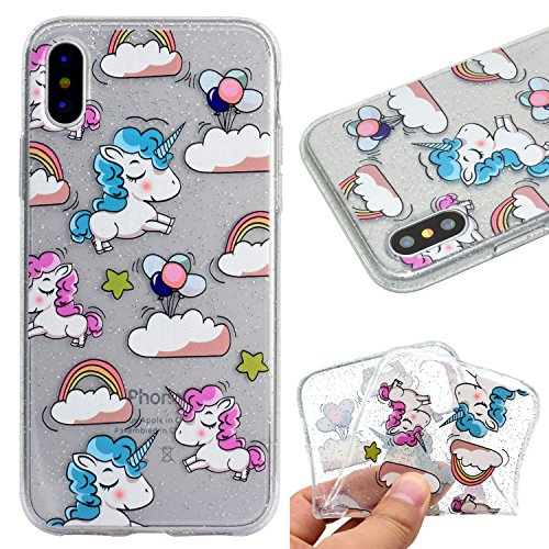 Cover per iPhone X Custodia Silicone , YIGA Piccolo panda Cover Cristallo Trasparente Guscio Silicone Morbido TPU Case Soft Shell Skin Protezione Custodia per Apple iPhone X (5.8) MM54