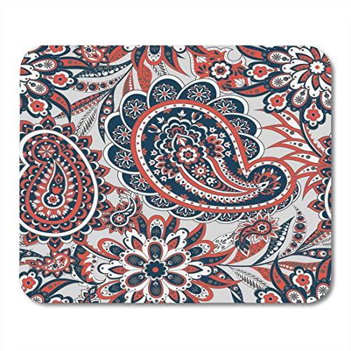 Luancrop Mausunterlage Batik-Paisley-Blumenmuster-Inder-Weinlese-Gurken-Blumen-Blatt Mousepad für Notizbücher, Tischrechner-Mausunterlagen, Bürozubehöre -