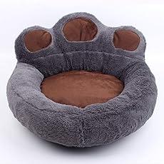 Decdeal Hundebett Katzenbett Hunde Körbchen Haustierbett Bärenkrallen-Form, Abnehmbar, Waschbar