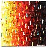 Handgemalt Bild Malerei Gemälde Zenic modern Stadt Skyline