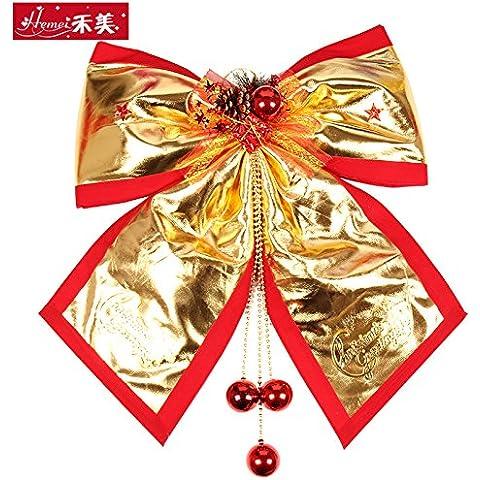 qwer Le decorazioni di Natale grande Natale Glamour Bow Tie decorazione di Natale appeso scena di Natale il filtro bow tie appendiabiti, piccolo ho4-6 spago nodo di prua