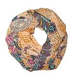 MANUMAR Loop-Schal für Damen | feines Hals-Tuch in bunt mit Paisley Motiv als perfektes Herbst Winter Accessoire | Schlauch-Schal | Damen-Schal | Rund-Schal | Das ideale Geschenk für Frauen