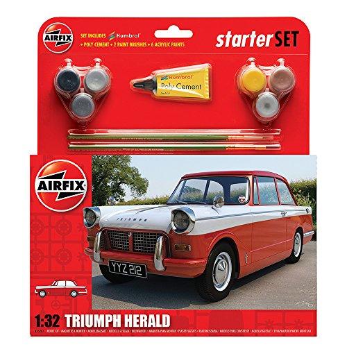 Imagen 4 de Airfix - Kit mediano con pinturas, coche Triumph Herald (Hornby A55201)