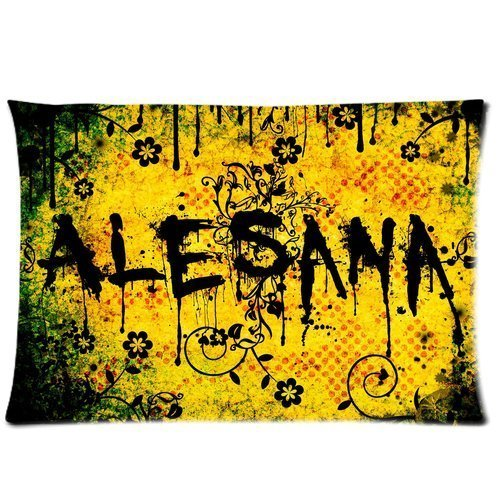 Alesana Rock Band Custom Pillowcase Cover Two Side Picture Size 16x24 Inch