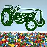 Vintage Tracteur agricole Wall Sticker Sticker Art disponible en 5 dimensions et 25 couleurs Petit Noir...