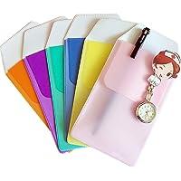 Uteruik 6Packs di Colore Diverso Camicia protettori tascabili per Pen Leaks, Classic Office Office Office for Pen Leaks