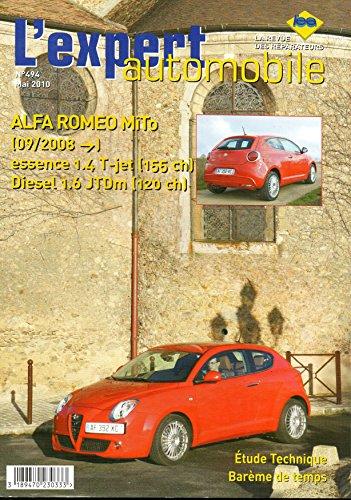 Revue technique ALFA ROMEO MITO depuis 09/2008 Essence 1.4T-Jet 155cv et Diesel 1.6 JTDm 120cv LEA494 – Mai 2010