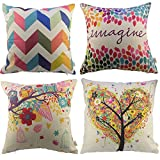 #3: Aart Floral deisgner HD Printed Cushion Cover 16x16 by Aart Store