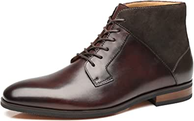 La Milano Men's Chelsea Boots Genuine Leather Comfortable Ankle Boots Classic. Black Size: