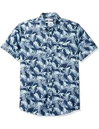 Amazon Essentials Regular-Fit Short-Sleeve Print Shirt Uomo