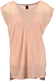 60/% khujo Damen Shirt FLORES in Apricot T-Shirt aus Baumwolle im Used-Look SALE