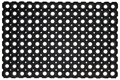 Carpets Rubber MediumBlack Door Mat (By Lowrence)