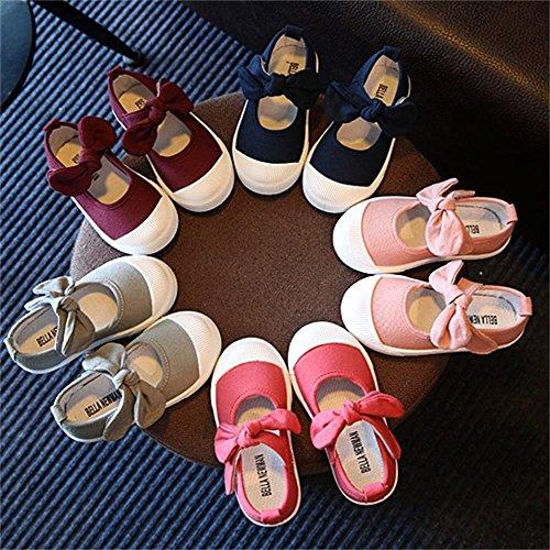ALUK- Chaussures De Toile Pour Enfants Petits Chaussures Blanches Chaussures Bébé Étudiants Chaussures ( couleur : Dark Pink , taille : 27 ) Dark Pink