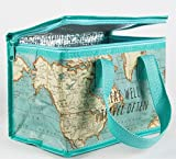 Vintage Map Insulated Recycled Plastic Lunch Bag (Sass and Belle)