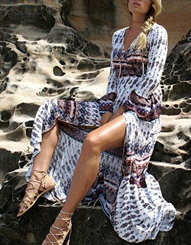 Smile YKK Long Sleeve Damen Sommer Gegen Sonnenlicht Strandkleid Bikini Deckung Bikinis Cover Up One Size Weiss #A