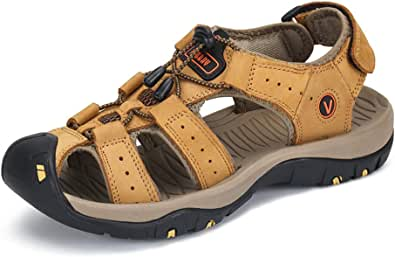 Walking Suede Sandals Outdoor Sports for Mens Summer Fisherman Buckle Breathable Water Shoes