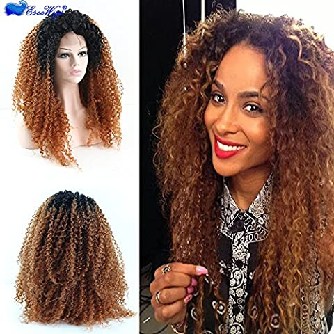 Costumes Bouclés Noir Costume Wig - Eseewigs Afro Kinky Curly Wig Ombre résistant