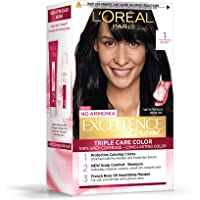 L'Oreal Paris Excellence Creme Hair Color, 1 Black, 72ml+100g