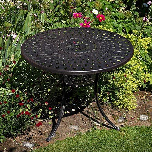 Lazy Susan – MIA 90 cm Gartentisch mit 2 Stühlen - 3