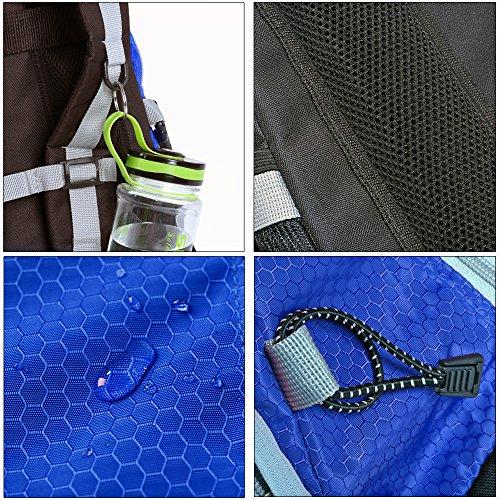 Outdoor Rucksack Reiserucksack Trekking-Rucksack Tasche Daypack Regenfest blau 40l Blau