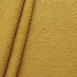 100% Wolle Walkloden Stoff Meterware Curry-Gelb