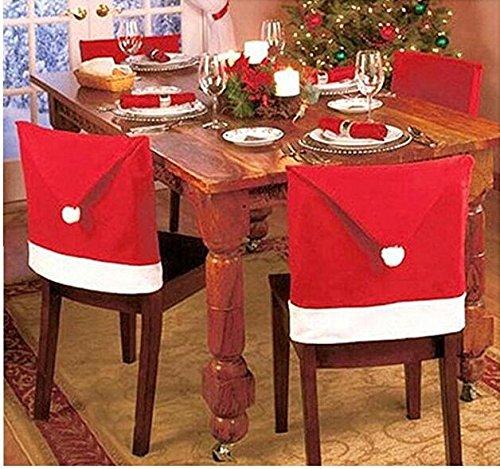 CS Santa Clause Red Hat Stuhl R?ckseite K?che Stuhl umfasst die Sets f?r Weihnachten, Santa Hut Stuhl Bez?ge (Red Santa Hüte)