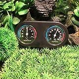 Volwco Thermomètres pour Terrarium en Temps réel et Lecture Rapide Thermomètre à Double Cadran et indicateur d'humidité mécanique à Induction silencieuse Hygromètres Reptiles pour boîte d'élevage