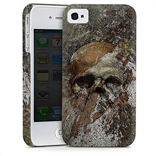 Apple iPhone 5 Housse Outdoor Étui militaire Coque Crâne Tête de mort Os Cas Premium mat