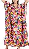 LA LEELA Badebekleidung Beachwear Badeanzug Kleid Langen Kaftan Kleid Kimono Verschleiern Multicolor