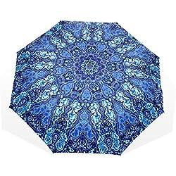 Paraguas de Viaje con diseño de Mandala Grande