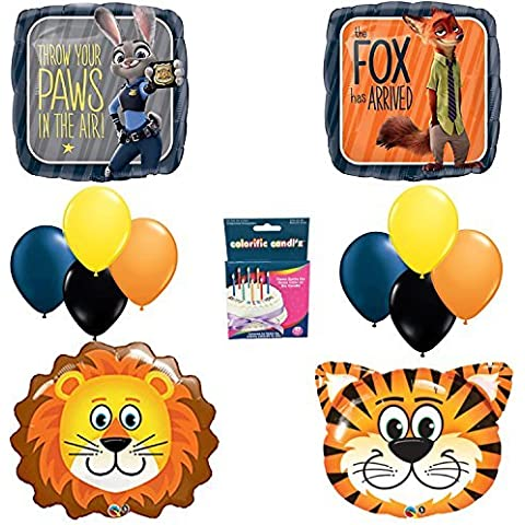 Zootopia Birthday Party Balloon Decoration Kit LIONS TIGERS TOO by Anagram