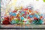 Poster Street Art - Das fehlende Fahrrad - Größe 61 x 91,5 cm - Maxiposter