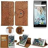 K-S-Trade Schutz Hülle für Cubot P11 Handyhülle Kork Handy Tasche Korkhülle Schutzhülle Handytasche Wallet Case Walletcase Flip Cover Smartphone