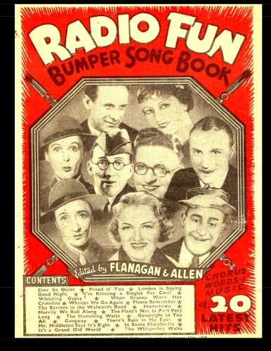 Radio Fun Bumper Song Book (B&W): Chorus Words and Music Song Book From 1939 - B&w Radio