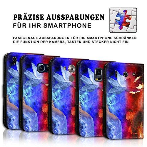 Wallet Book Style Flip Handy Tasche Case Schutz Hülle Schale Motiv Etui für Apple iPhone 4 / 4S - Variante UMV15 Design12 Design 2