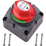 LotFancy Interruptor Desconexión de Aislador de Batería Impermeable 6V 12V 24V 48V 60V para Coche, Marina, Barco, Náuticos, R