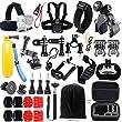 Iextreme Gopro Essential Accessories Bundle Kit 45-in-1 Accessories Set for Gopro Hero 1/2/3/4 SJ4000 SJ5000 SJ6000 Sports Camera Accessory Set