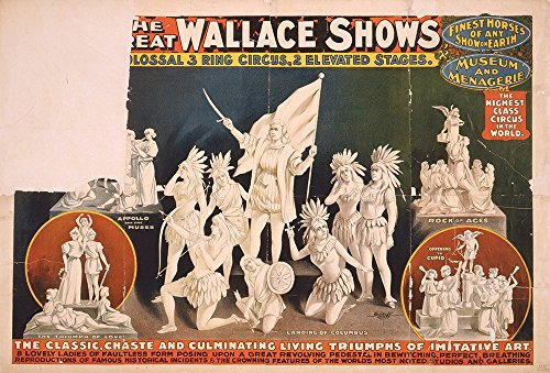 Spiffing Prints The Great Wallace Shows Statues Circus - Extra Large - Matte Print