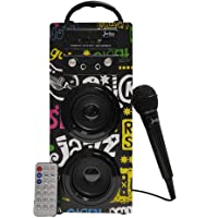 Biwond JoyBox Altoparlante karaoke 10W + microfono (Bluetooth TWS, telecomando IR AUX, radio FM, scheda SD, USB, display a LED) - Banda