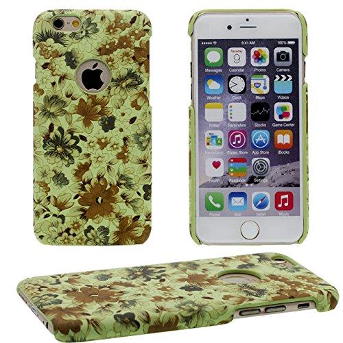 iPhone 6S Plus Coque, Beau Fleur Peinture Série Coloré Élégant Style Mince Poids Léger Dur Housse de Protection Case pour Apple iPhone 6 Plus / 6S Plus 5.5 inch jaune
