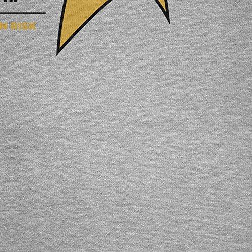 TEXLAB - Warning! Red Shirts! - Herren Langarm T-Shirt Grau Meliert
